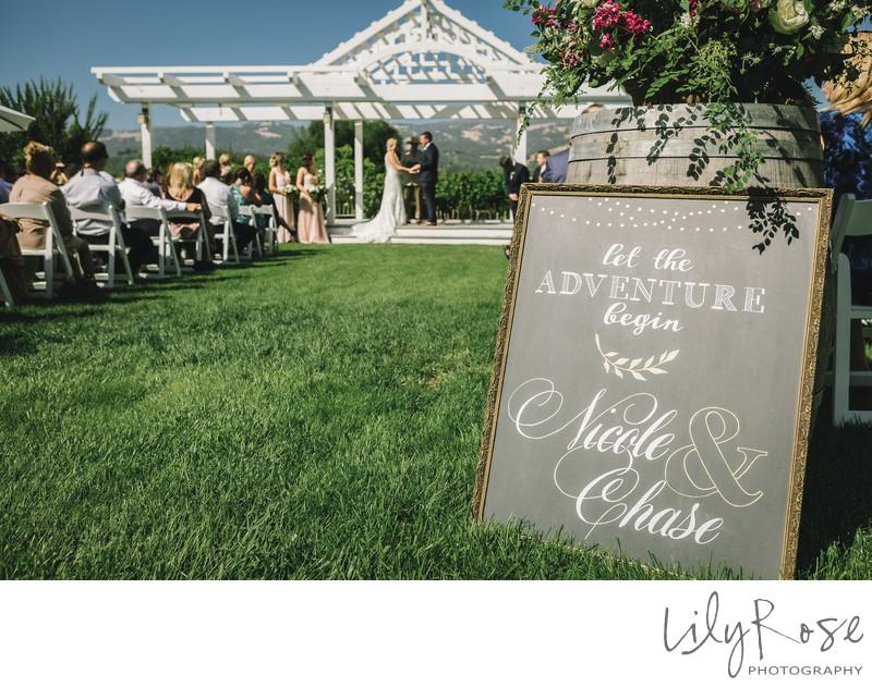 Top Wedding Photographer Geyserville Ceremony