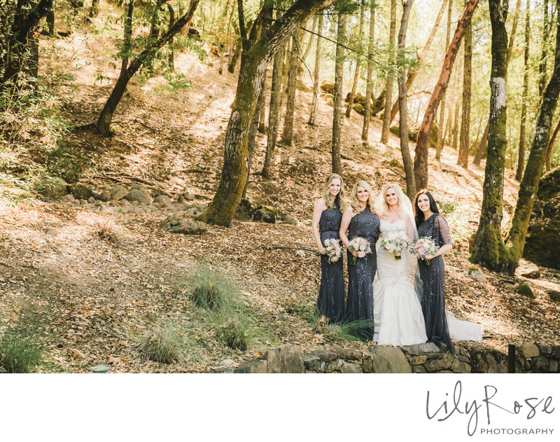 Top Wedding Photographer Calistoga Ranch Bridal Party