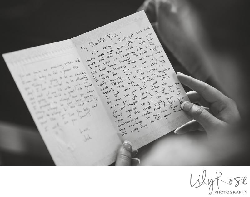 Note From Groom Wedding Photographer Gloria Ferrer