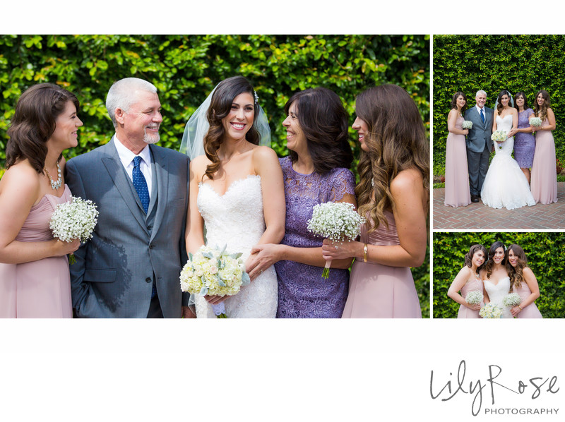 Bride with Family in Napa