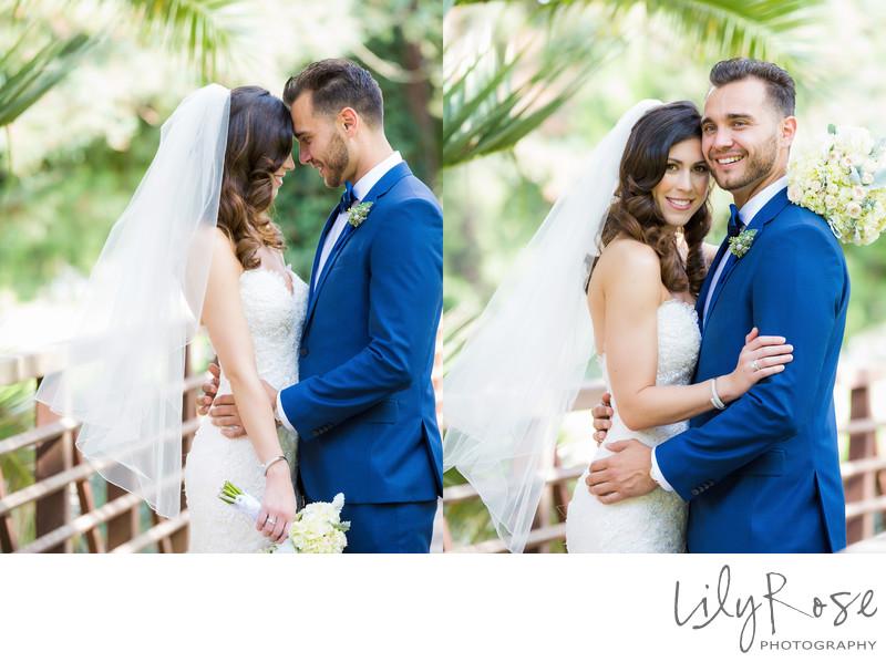Bride and Groom Romantic Portrait Silverado Resort Spa