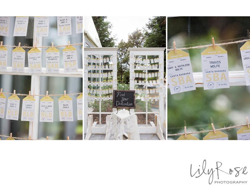 Escort Cards Napa Wedding Details Wedgewood Napa
