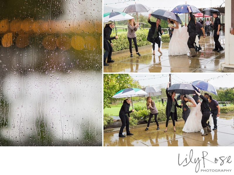Wedding Ceremony and Rain Wedgewood Napa