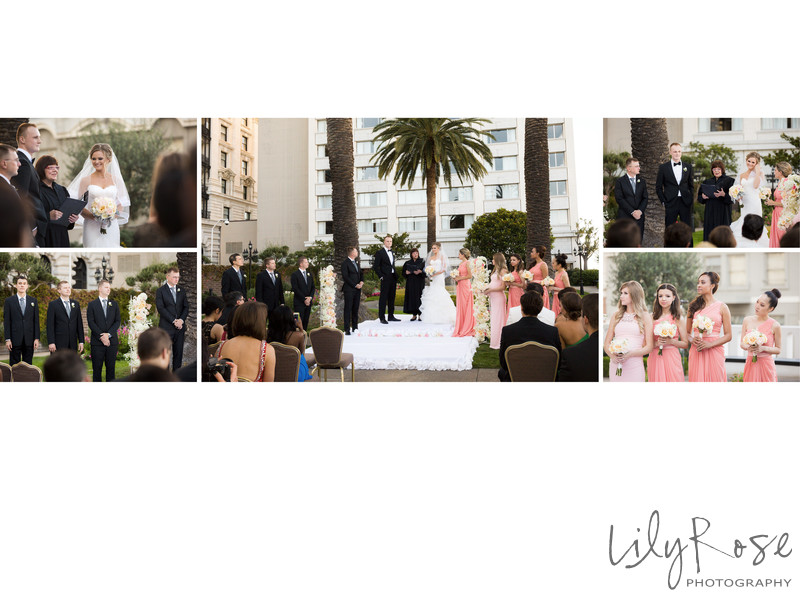 Fairmont San Francisco Wedding Photographer Ceremony