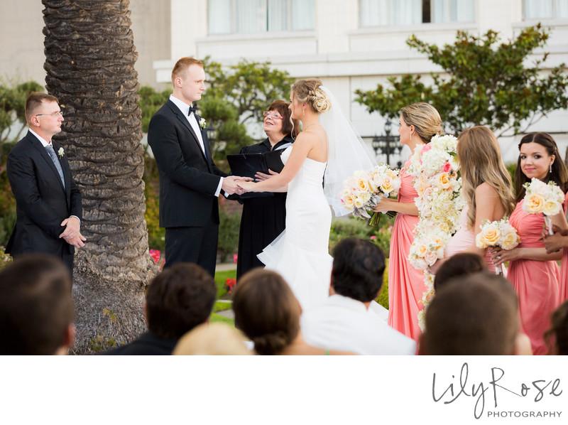 Ceremony Bride and Groom Fairmont San Francisco