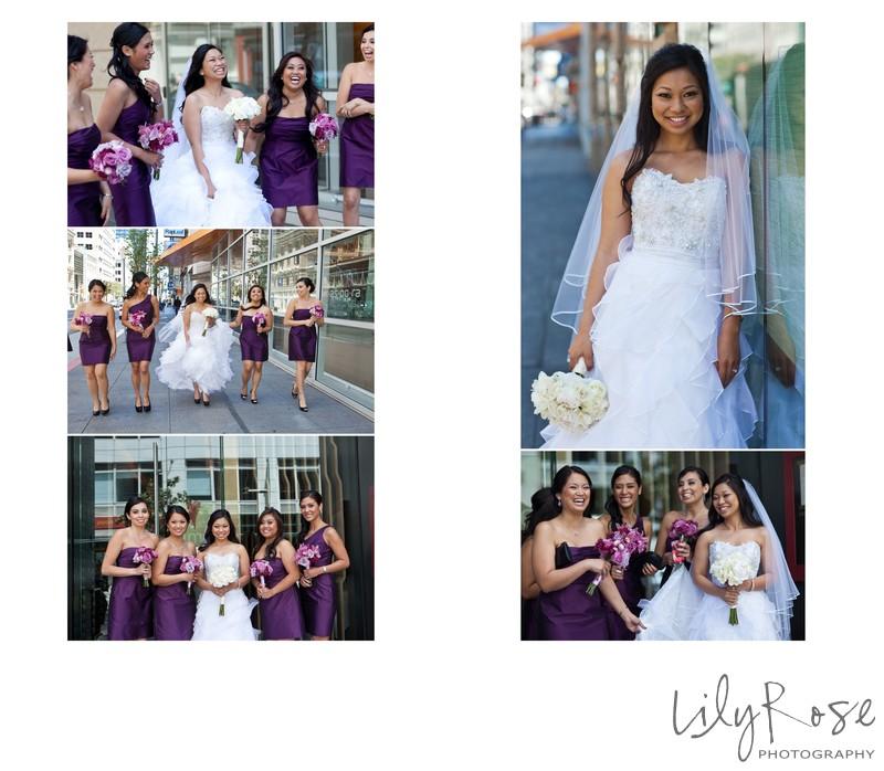 Bridal Party Photos in San Francisco St. Regis Hotel