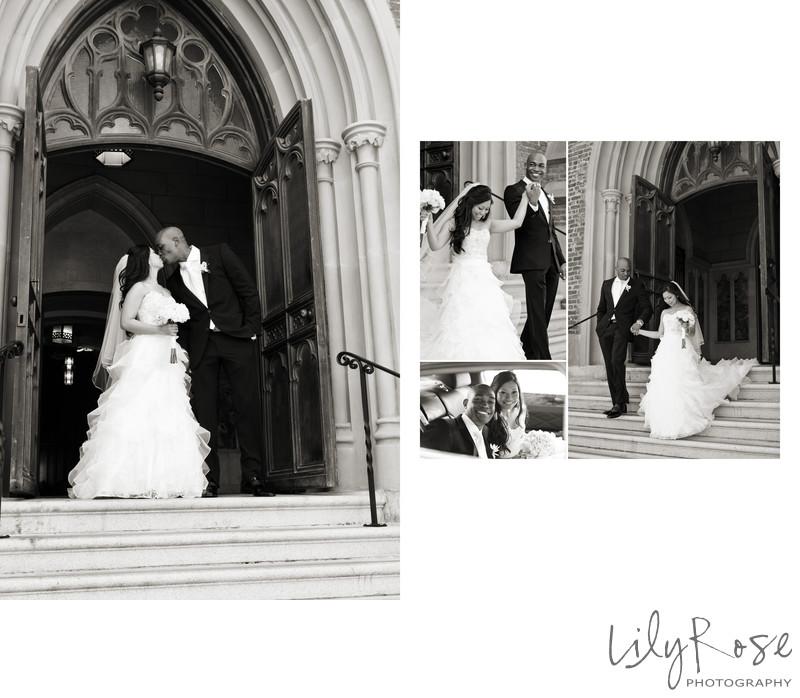 St. Patrick Church Steps Sonoma Wedding Photographer
