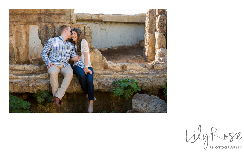 Ruins at Sutro Baths Sonoma Engagement Photographers