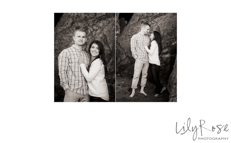 Beach Engagement Session Sutro Baths San Francisco