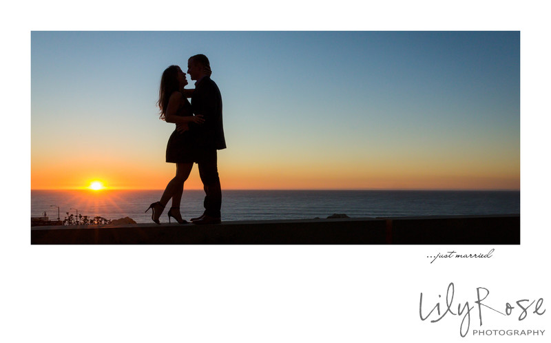 Sunset Sutro Baths Engagement Photographer