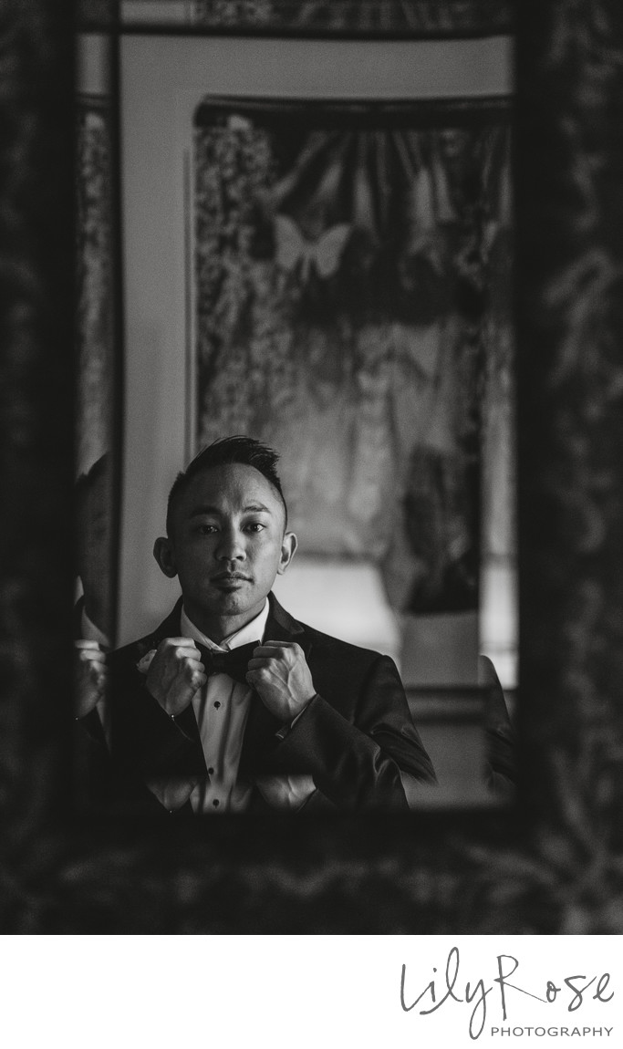 Groom Getting Ready at Meritage Resort and Spa