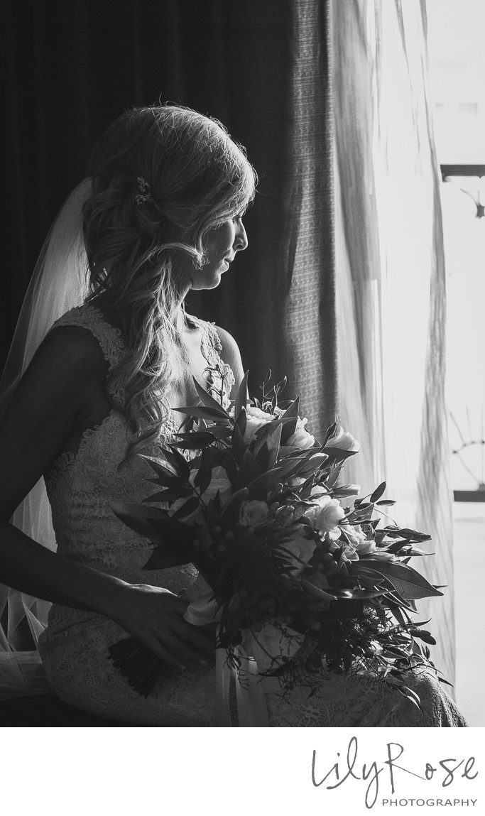 Sonoma Bride Wedding Photographer Window Light