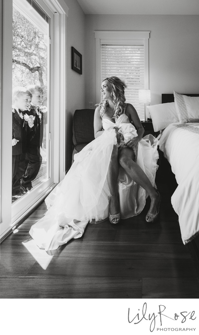 Ring Bearer Fun Wedding Photograph in Glen Ellen