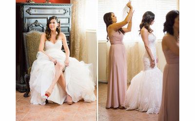 Bride's Garter and Veil in Napa