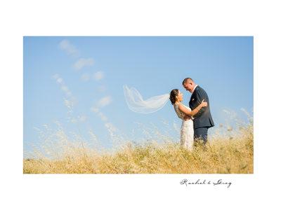 Bride and Groom Field Meritage Resort and Spa