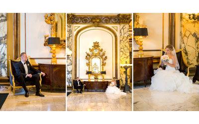 Bride and Groom Portraits Fairmont San Francisco