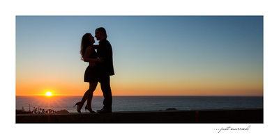 Sunset Sutro Baths Engagement Photographer