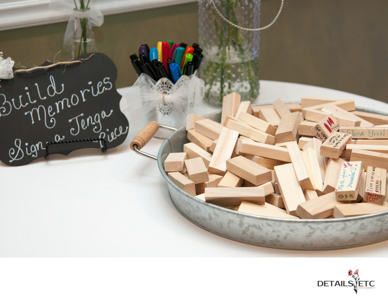 Jenga Tiles for a Guestbook