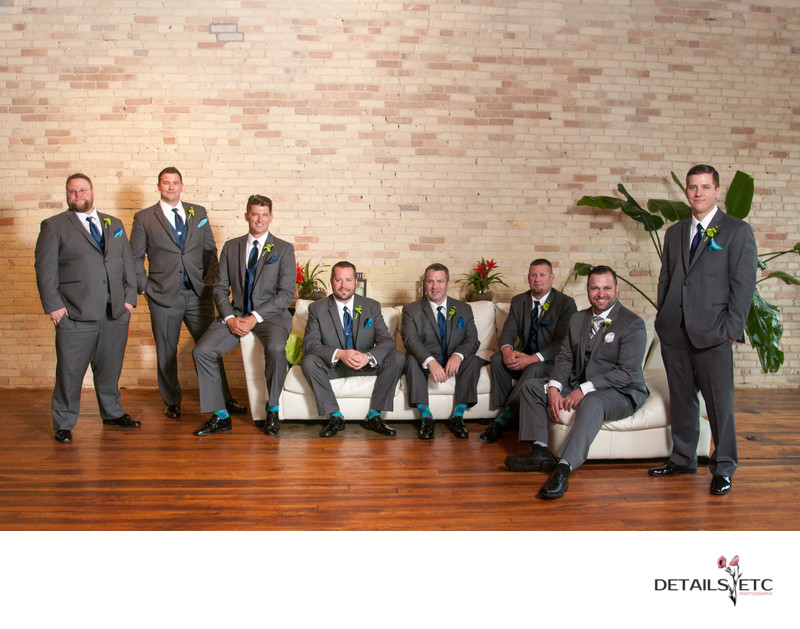 Groomsmen Pictures at the Goei Center