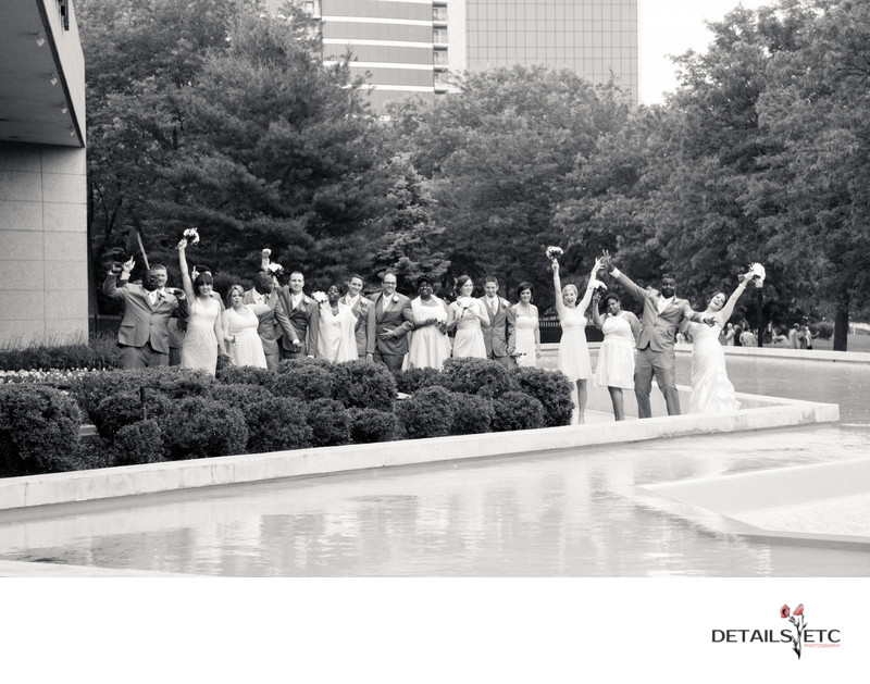 Bridal Party Pictures Downtown Grand Rapids