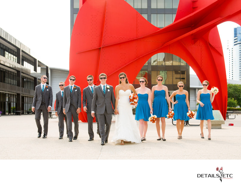 Calder Plaza Wedding Party Photo