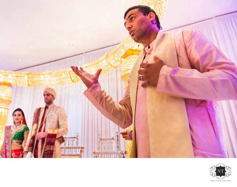 Kamal Pandey Hindu Preist at Hindu Wedding