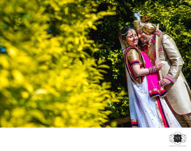 Indian wedding couple portrait