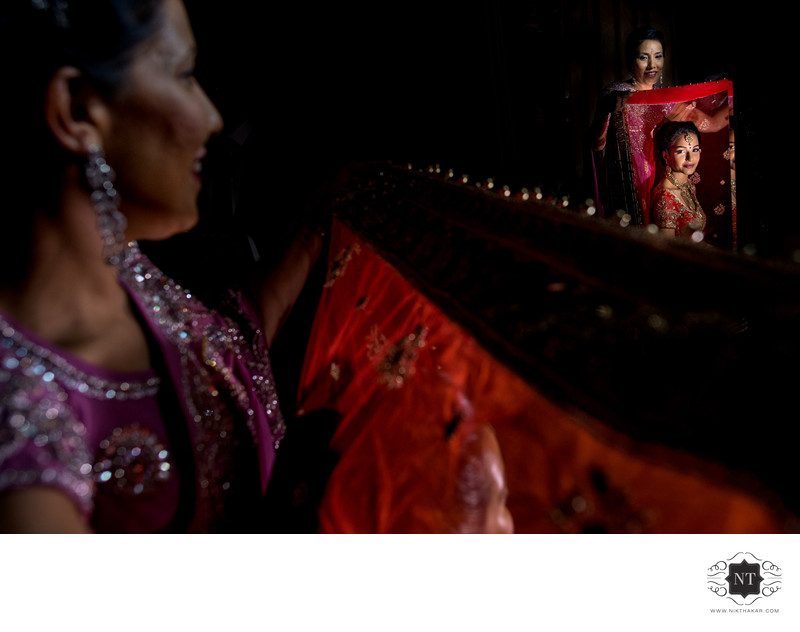 Brides getting ready at Hare Krishna Temple bhaktivedanta manor
