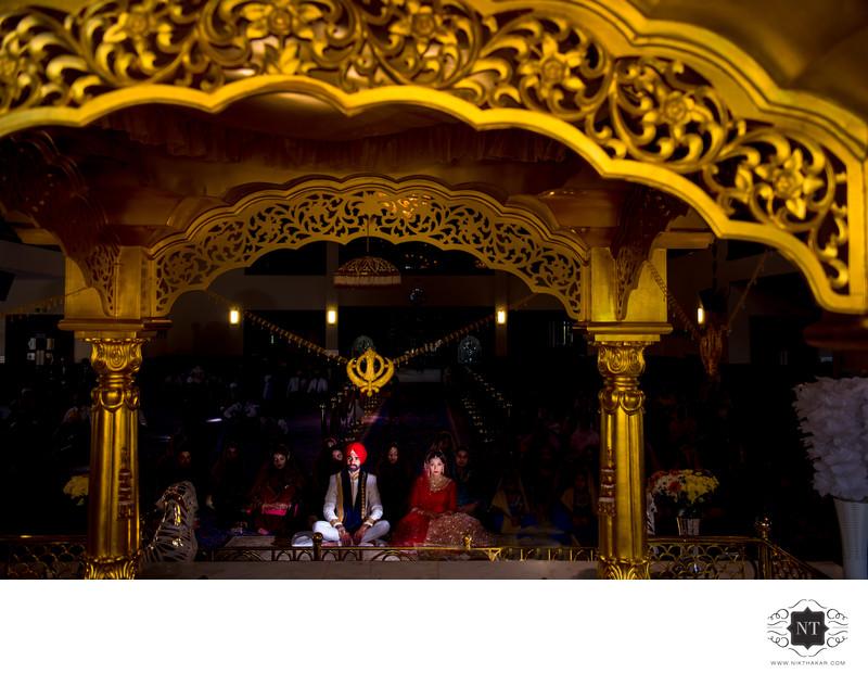 Sikh wedding at gurudwara Guru Nanak Temple Gravesend