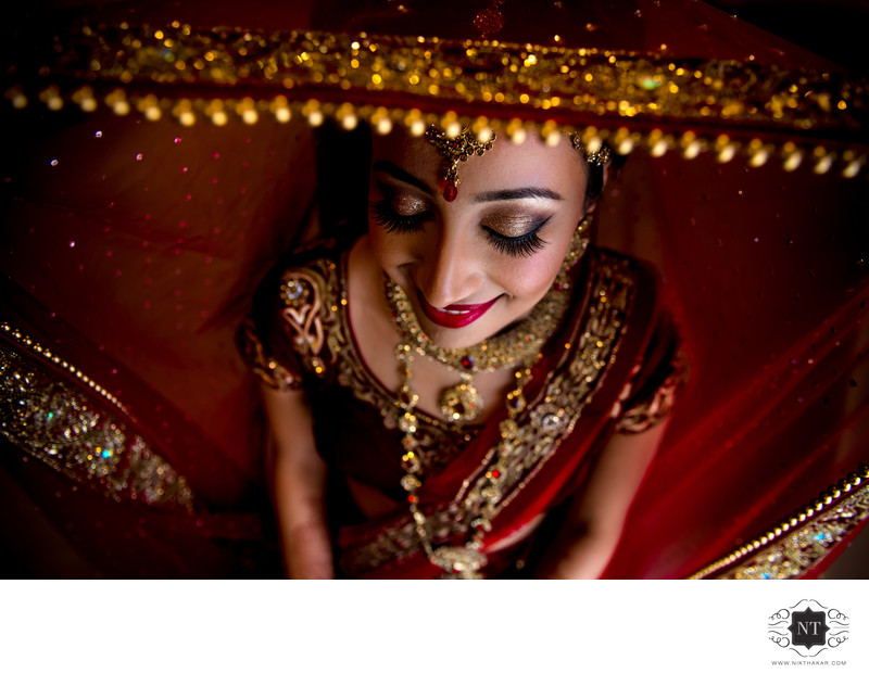 Asian wedding bridal portraits-Oshwal Centre wedding bridal portrait