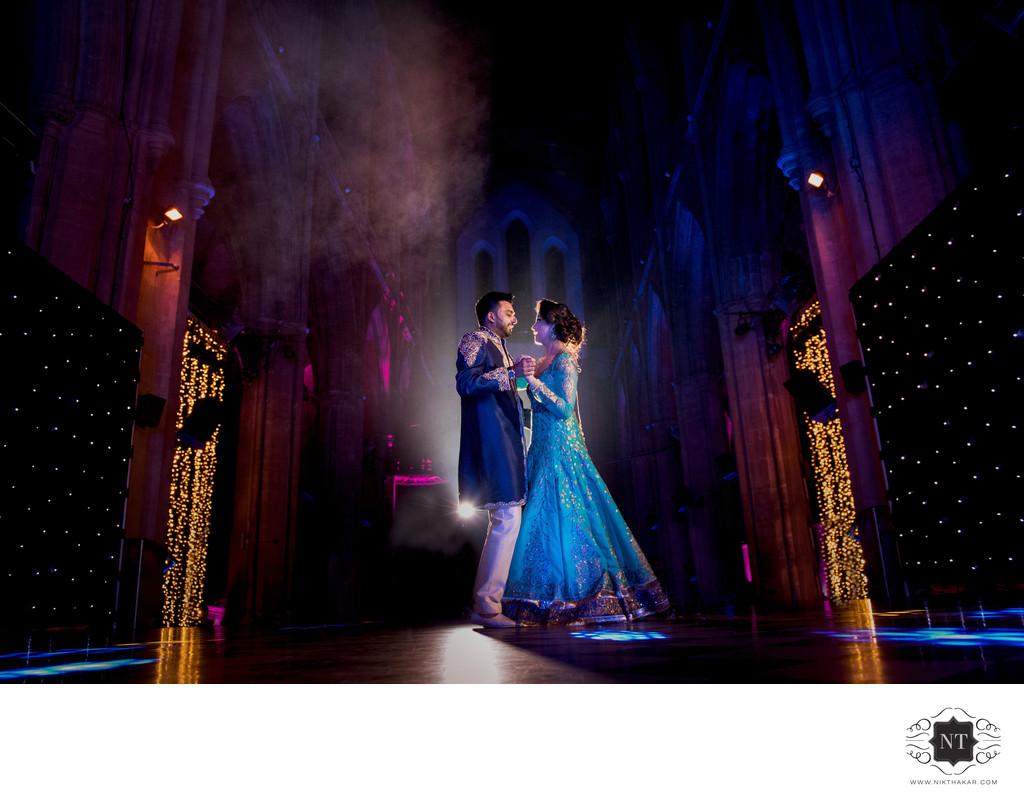 First Dance Indian Wedding Reception Nikthakar