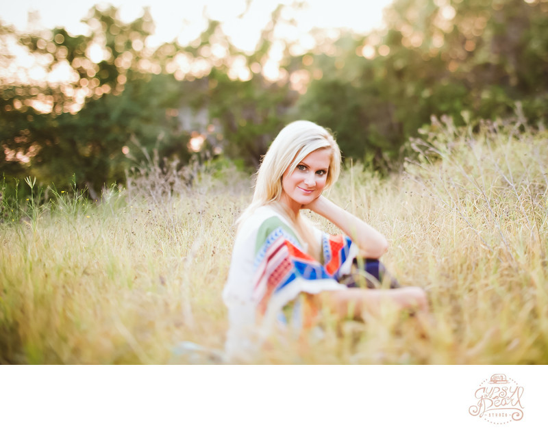 Outdoor Senior Session in Austin Texas