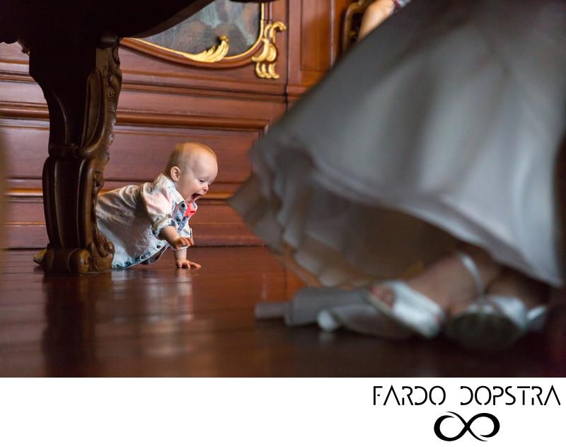 Baby op bruiloft
