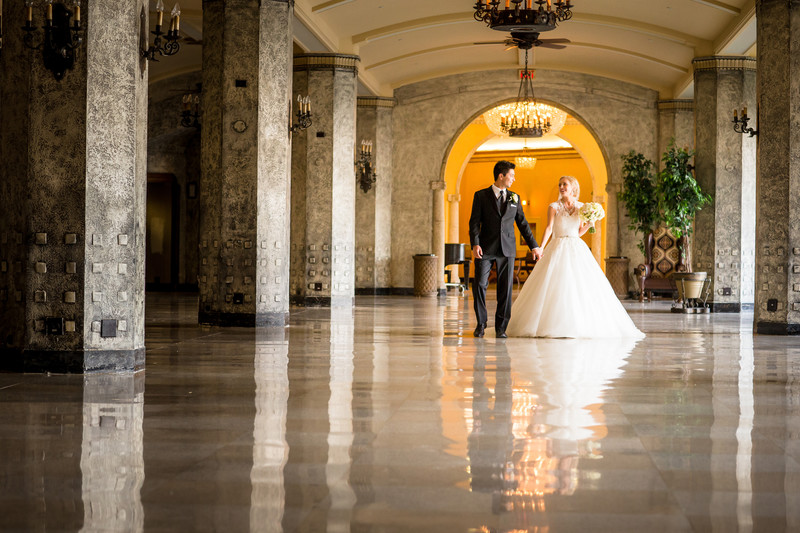 Banff Springs Hotel ballroom wedding reception photos