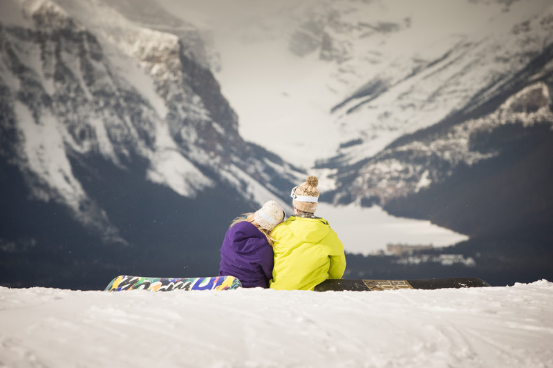 Lake Louise Resort Photos of Engagement Sessions