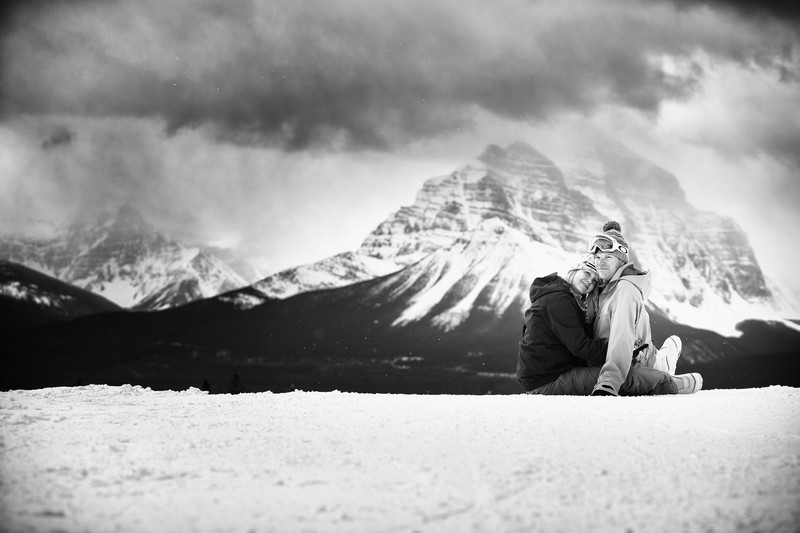 Lake Louise Ski Photos & Engagement Photos