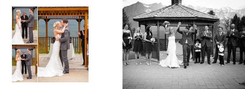 Bride + Groom Married in Canmore SilverTip Golf Course