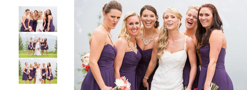 Bridal Party Fun Shots After Ceremony SilverTip Canmore