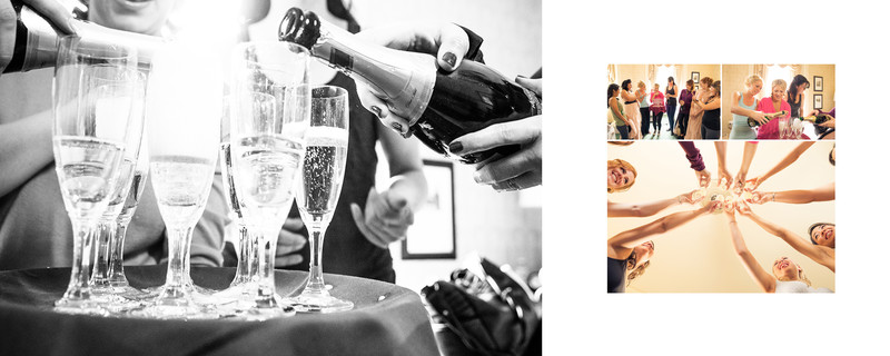 Champagne Toast Bridal Party Banff