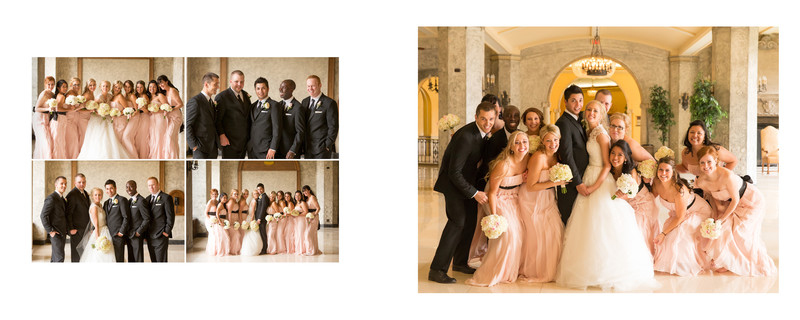 Bridal Party Photos By The Outside Terrace Banff