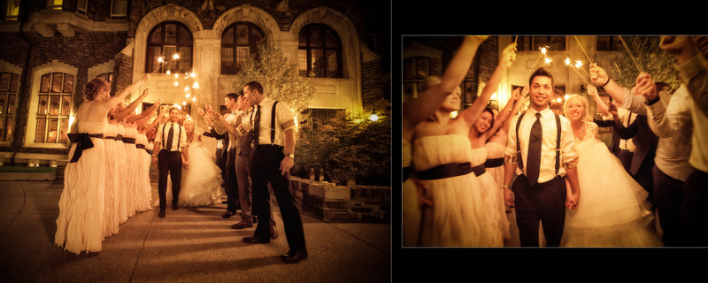 Sparklers Outside The Mount Stephen Hall Fairmont Hotel