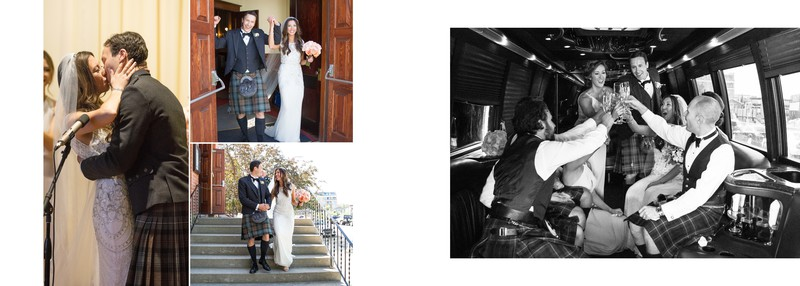 Bride + Groom Married And Having Fun in Party Bus