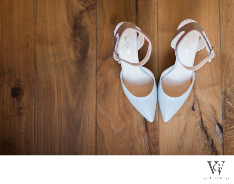 Wedding Shoe Photos At Brides Getting Ready Location