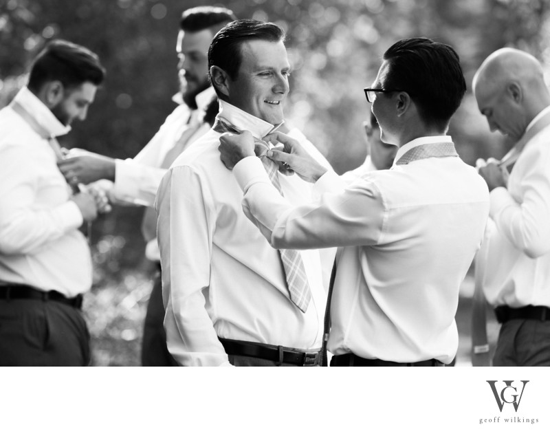 Wedding Photos -Bridal Party Getting Ready in Canmore