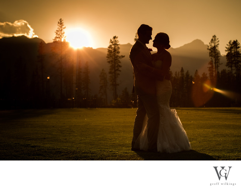 Canmore Sunset Wedding Photos By GW Photography