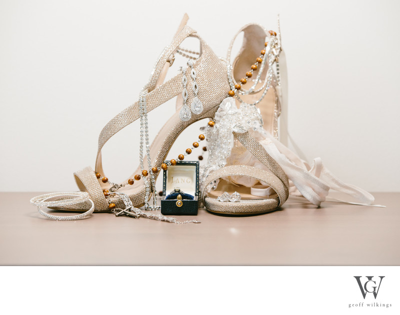 Shoes + Details of Brides Personal Items Calgary Photos