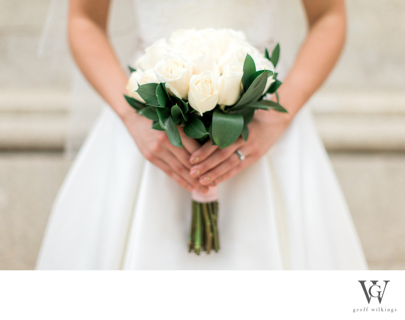 Bride Holding Flowers Wedding Photography By Geoff