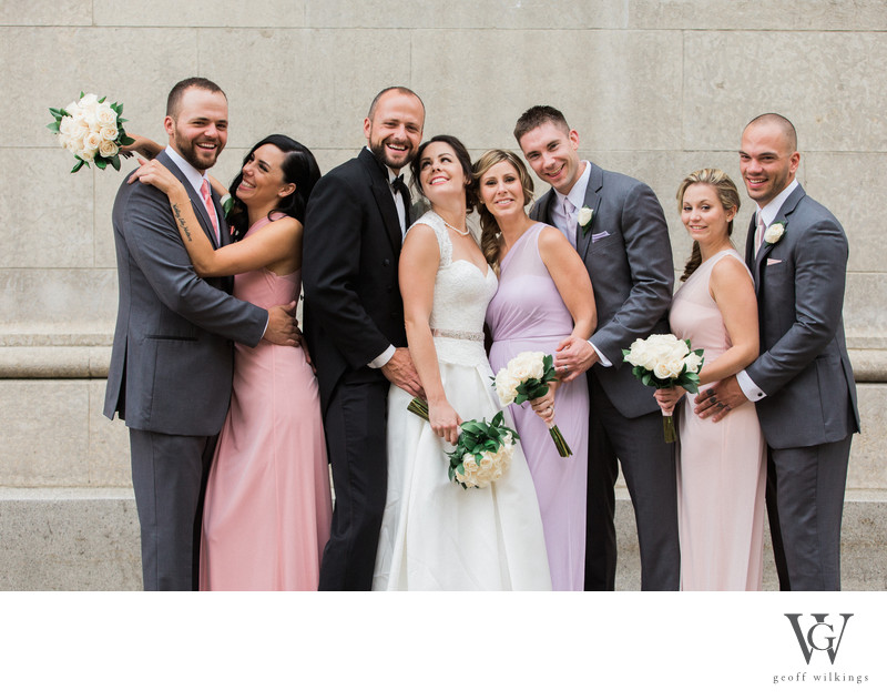 Complete Bridal Party Having Fun Stephen Av Calgary