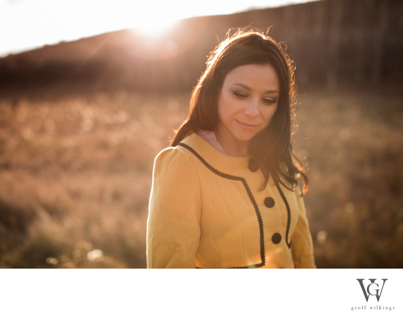 Sunset Engagement Session Calgary Open Field Park