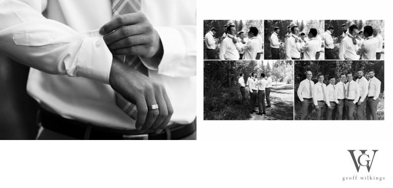 Groom With Bridal Party Getting Ready Canmore Photos